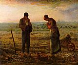 Jean Francois Millet The Angelus painting