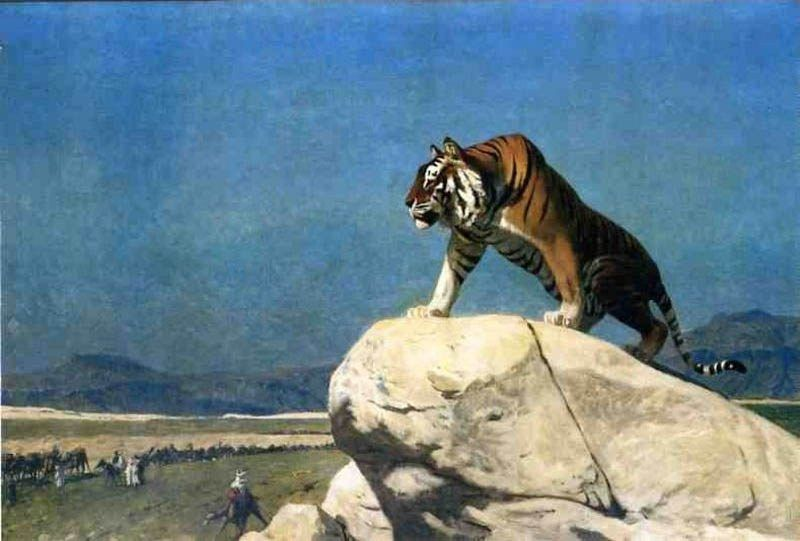 Jean-Leon Gerome Tiger On The Watch Ii