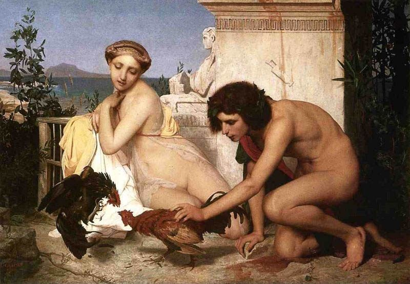 Jean-Leon Gerome Young Greeks at a Cock Fight