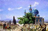 Jean-Leon Gerome Cemetery Gone to Seed painting