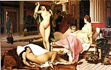 Nude paintings - Greek Interior by Jean-Leon Gerome