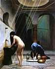 Nude paintings - Painting III by Jean-Leon Gerome