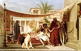 Oriental paintings - Socrates seeking Alcibiades in the house of Aspasia by Jean-Leon Gerome