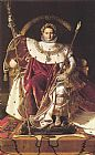 Jean Auguste Dominique Ingres Napoleon I on His Imperial Throne painting