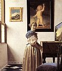 lady agnew Canvas Prints - Lady Standing at a Virginal