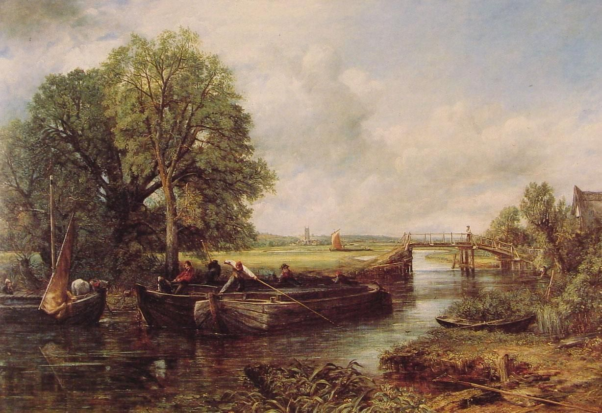 John Constable A View on the Stour near Dedham