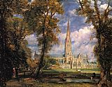 John Constable Salisbury Cathedral from the Bishops' Grounds painting