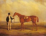 John Ferneley Snr A Gentleman Holding Dangerous, the Winner of the 1833 Derby painting