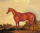 John Ferneley Snr A Portrait of the Racehorse Harkaway, the Winner of the 1838 Goodwood Cup painting