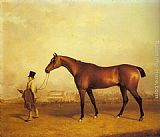 John Ferneley Snr Emlius, Winter of the 1832 Derby, held by a Groom at Doncaster painting