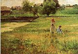 John Ottis Adams Summertime 1890 painting