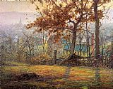 John Ottis Adams The Old Mills of Brookville painting
