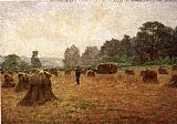 John Ottis Adams Wheat wain Afield painting