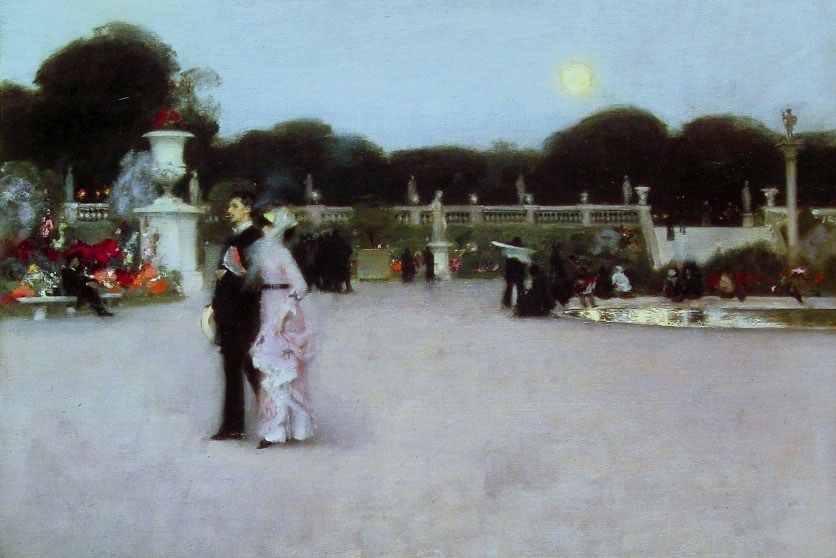John Singer Sargent In the Luxembourg Gardens
