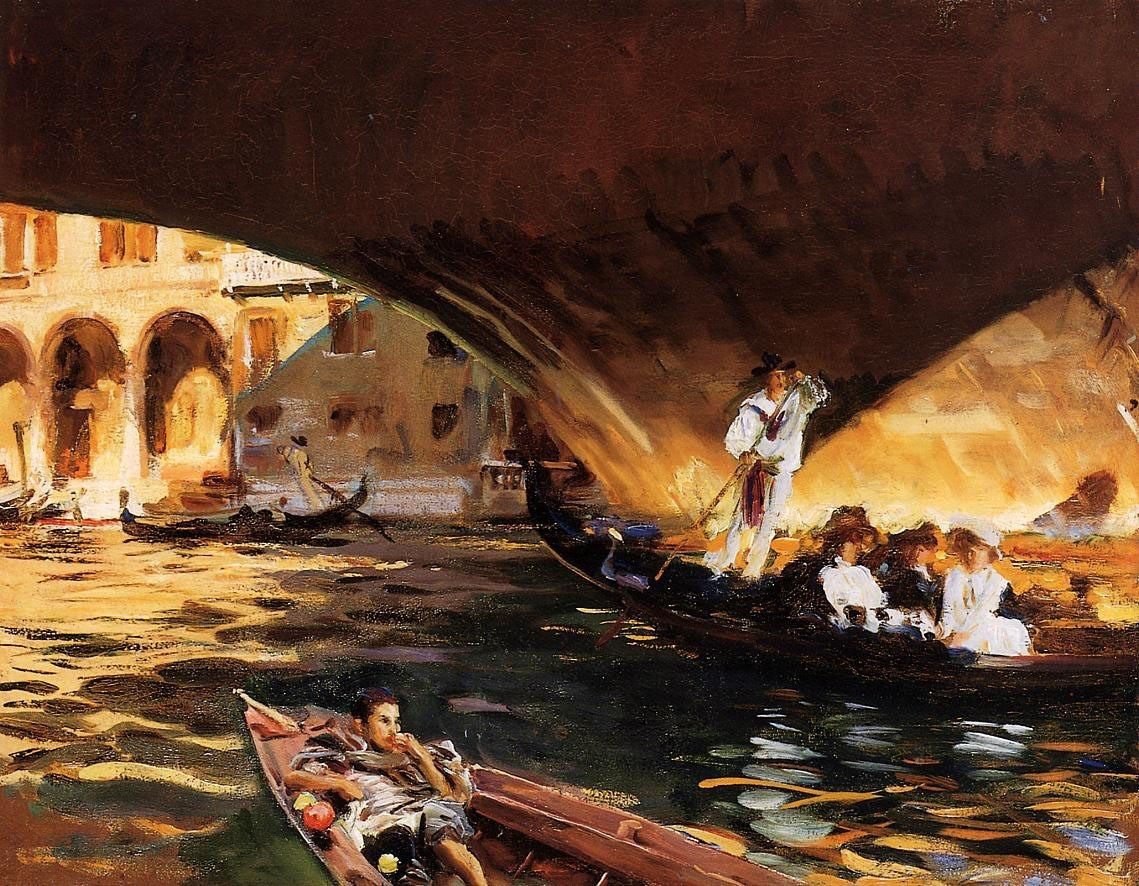 John Singer Sargent The Rialto Grand Canal