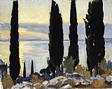John Singer Sargent Cypress Trees at San Vigilio painting