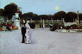 John Singer Sargent In the Luxembourg Gardens painting