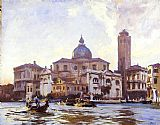 Venice paintings - Palazzo Labia and San Geremia Venice by John Singer Sargent