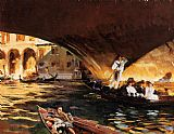 Venice paintings - The Rialto Grand Canal by John Singer Sargent