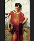 John William Godward Drusilla painting