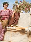 John William Godward Tranquillity right painting