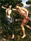 John William Waterhouse Apollo and Daphne painting