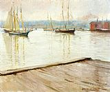 Joseph DeCamp At Gloucester aka Gloucester Harbor painting