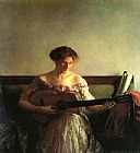 Joseph DeCamp The Guitar Player painting