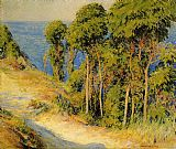 Joseph DeCamp Trees Along the Coast painting