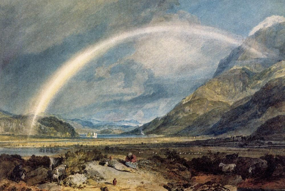 Joseph Mallord William Turner Kilchern Castle with the Cruchan Ben Mountains Scotland Noon