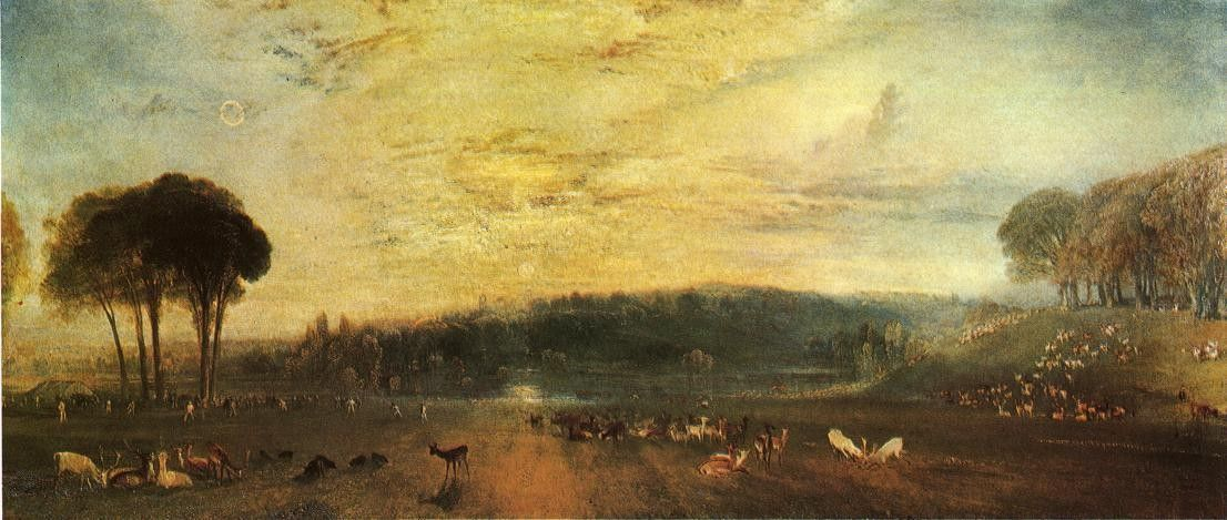 Joseph Mallord William Turner The Lake Petworth sunset fighting bucks