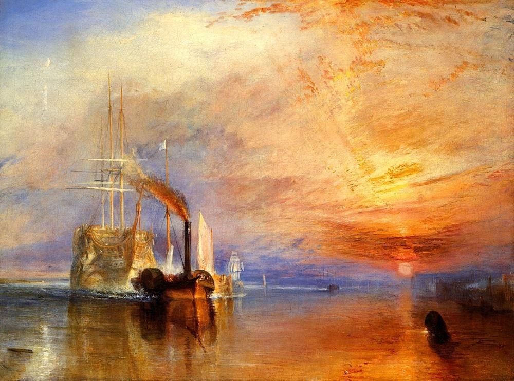 Joseph Mallord William Turner The fighting Temeraire tugged to her last berth to be broken up