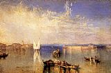 Venice paintings - Campo Santo Venice by Joseph Mallord William Turner