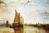 Joseph Mallord William Turner Dort the Dort Packet Boat from Rotterdam Bacalmed painting