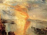 Joseph Mallord William Turner The Burning of the Houses of Parliament painting