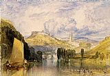 Joseph Mallord William Turner Totnes in the River Dart painting