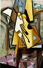 Juan Gris Guitar on a Chair painting