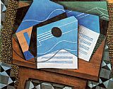 Juan Gris Guitar on a Table painting