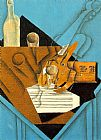 Juan Gris Musician's Table painting
