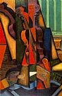 Music paintings - Violin and Guitar by Juan Gris