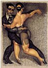 Tango paintings - Passion Tango by Juarez Machado