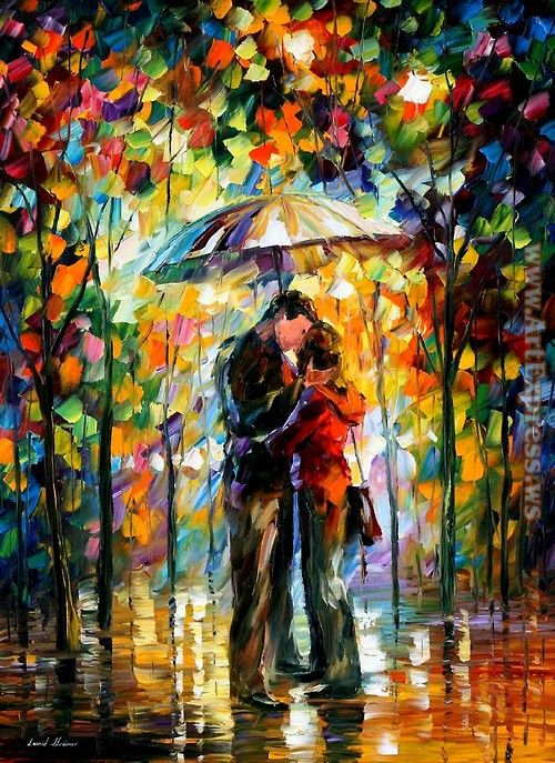 Leonid Afremov A Kiss in the Park