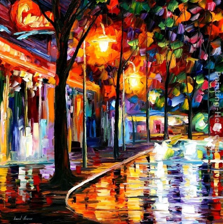 Leonid Afremov NIGHT CAFE