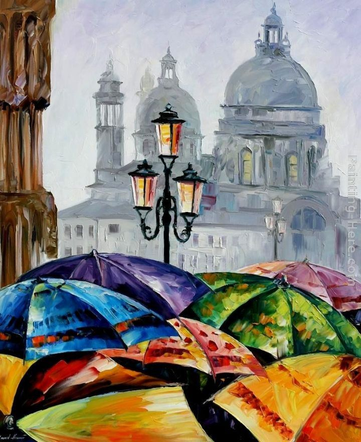 Leonid Afremov RAINY DAY IN VENICE