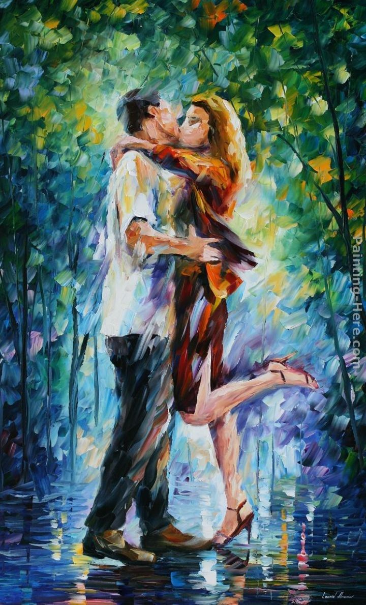 Leonid Afremov RAINY KISS