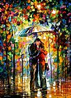 Leonid Afremov A Kiss in the Park painting