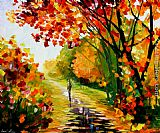 Leonid Afremov AFTER THE RAIN painting