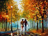 Leonid Afremov AUTUMN ELEGY painting