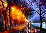 Leonid Afremov Alley by the Lake painting