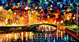 Leonid Afremov BRIDGE OVER DREAMS painting